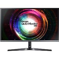 "Samsung 29.7"" Ultra HD QLED Monitor, Black/Silver, LU28H750"