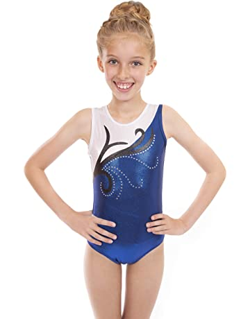 Vincenza Dancewear Girls Short Sleeved (Sleeveless) Leotard for Gymnastics 1ebdebff49e