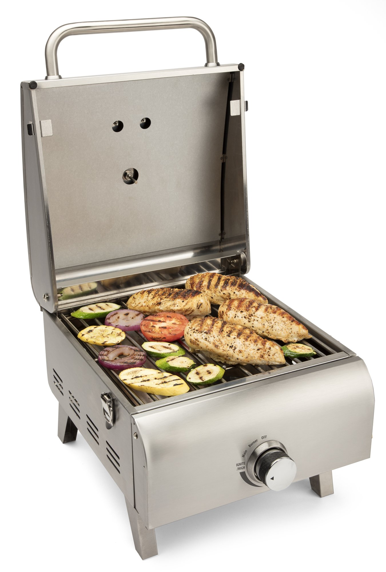 Cuisinart CGG-608 Professional Tabletop Gas Grill, One-Burner, Stainless Steel by Cuisinart