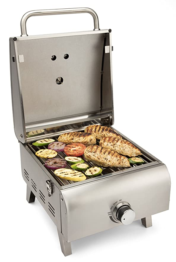 Cuisinart CGG-608 Professional Tabletop Gas Grill – The Boat Grill with A Built-In Thermometer