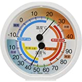 クレセル 快適環境温湿度計 TR-170W