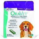 Frontline Merial Oravet Dental Hygiene Chew for Medium Dogs (10-24 lbs), Dental Treats for Dogs, 30 Count
