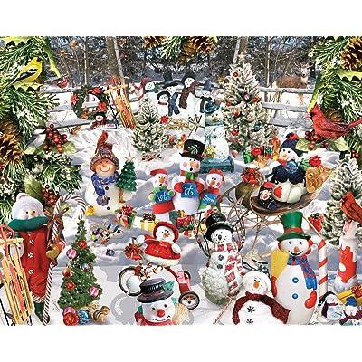 White Mountain Puzzles Snowmen - 1000 Piece Jigsaw Puzzle: Toys & Games
