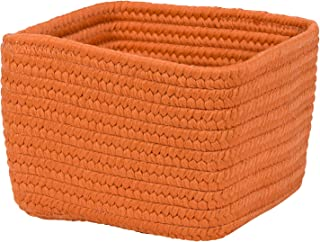 "product image for Colonial Mills Braided Craft Basket, 12""x12""x8"", Orange Zest"