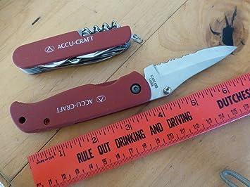 Amazon.com: 2 accu – Craft Rojo navaja de bolsillo y ...