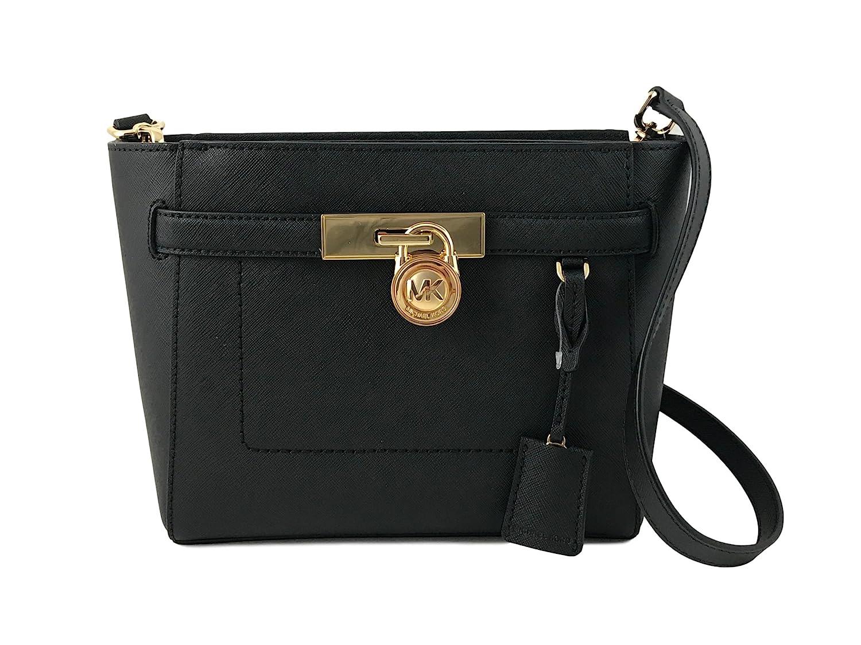 a6393de57eb5 Amazon.com  Michael Kors Hamilton Leather Traveler Messenger (BLACK)  Shoes
