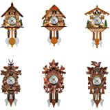 JHGH Pendulum Wall Clock - Clocks for Living Room Decor Decorative Wood Cuckoo Cuckoo Wall Clock with Pendulum - Silent Woode