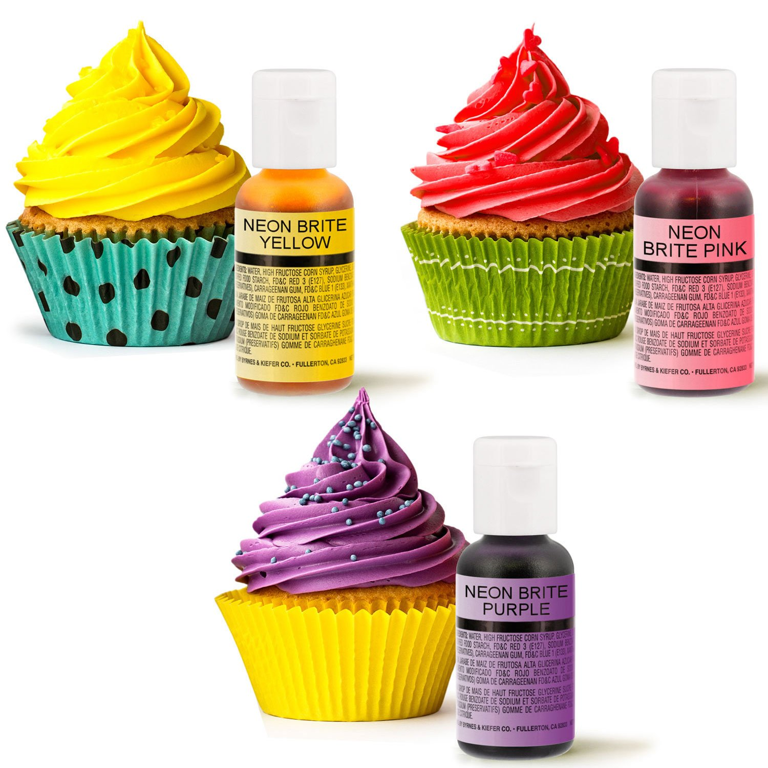 30 Color Cake Food Coloring Liqua-Gel Decorating Baking Ultimate Set - Primary, Secondary and Neon Colors - U.S. Cake Supply 0.75 fl. oz. (20ml) Bottles by U.S. Cake Supply (Image #2)