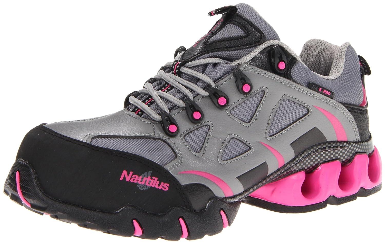 Nautilus Safety Footwear レディース グレー/ピンク 6  B009C41SKQ