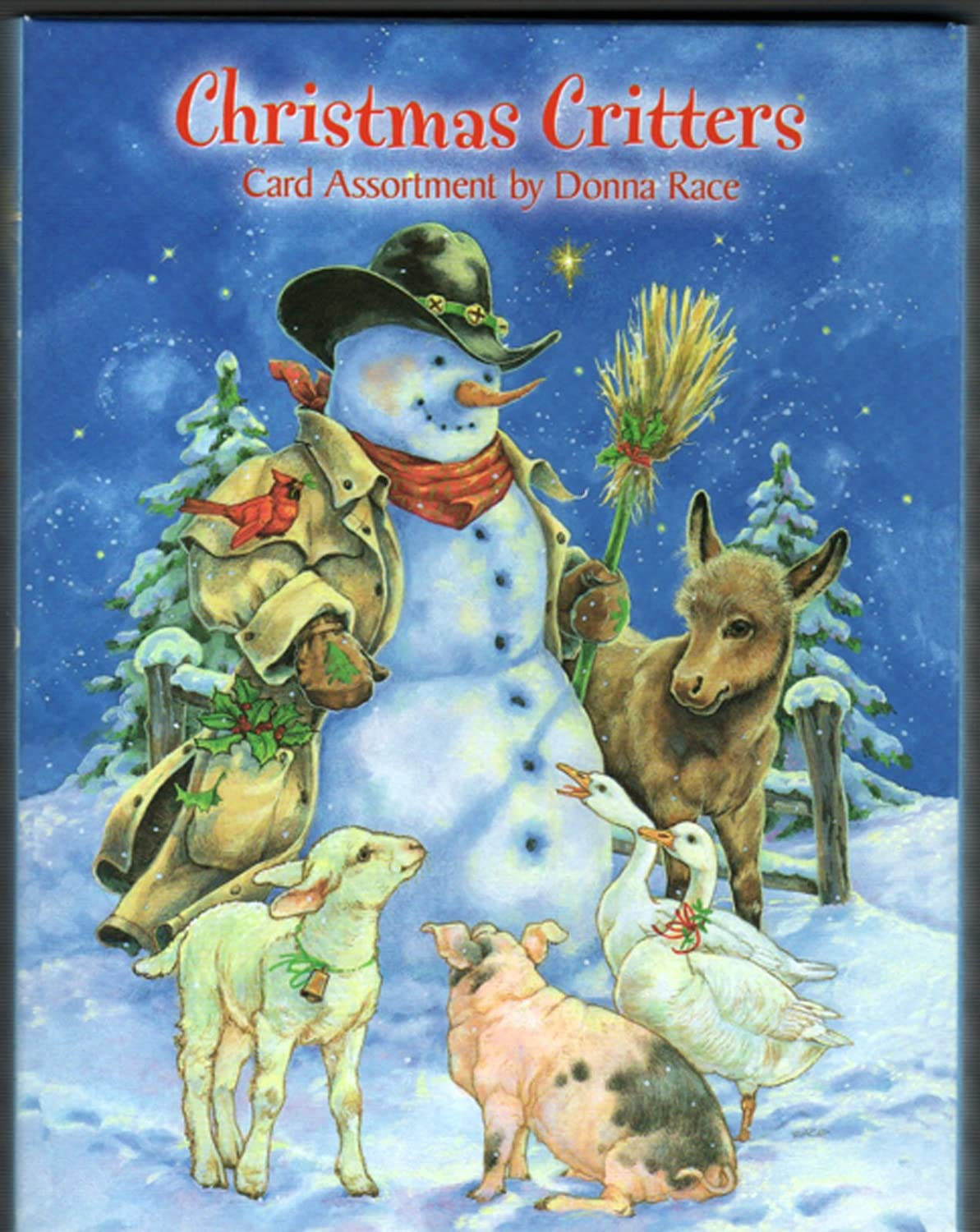 Inventory #1283 Leanin/' Tree Christmas Card Cabin with Deer