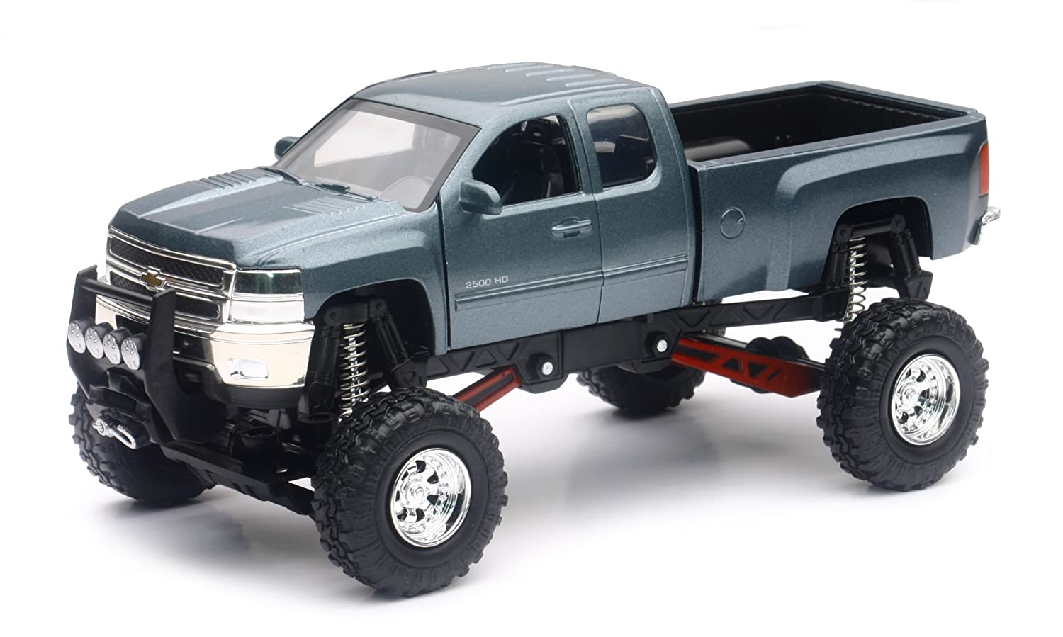 New Ray Silverado 2500 Hd Die Cast Chevrolet with Suspension 1//32/° 54526 Blue new ray france sarl