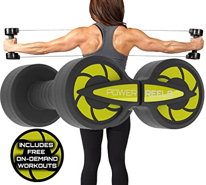 POWER REELS Amazon's #1 Best Portable Fitness Product The Best, Most  Effective Resistance Exercise Product  Home Gym Workout : Abs, Core, Arms,  Legs,