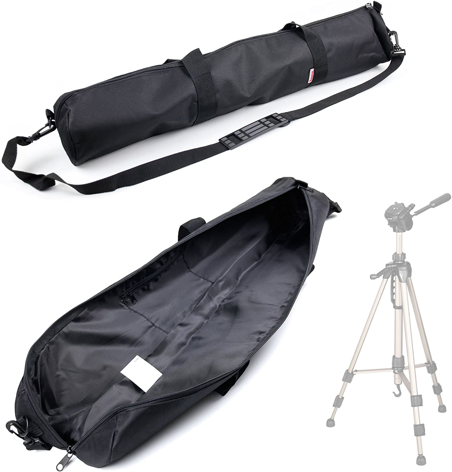 DURAGADGET Premium Quality Water-Resistant Tripod Carry Bag//Cover for Hama Star 63 62 /& 61 Tripod with Removable /& Adjustable Shoulder Strap and Separate Carry Handles
