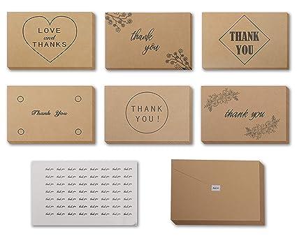 Tarjeta Agradecimiento 120 Piezas (15,2cm x 10,2cm) Tarjeta ...