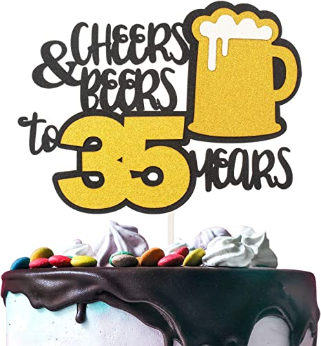 Happy 35th Birthday Party Decorations Cheers to 35 Years 35th Birthday Decorations Cheers and Beers
