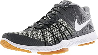 Nike Mens Zoom Train Incredibly Fast Training Shoe Dark Grey/White/Orange  Size 7.5