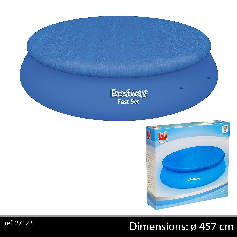 Bestway bw58035 Bâche pour Piscine Autoportante, Bleu, 457 cm fornord