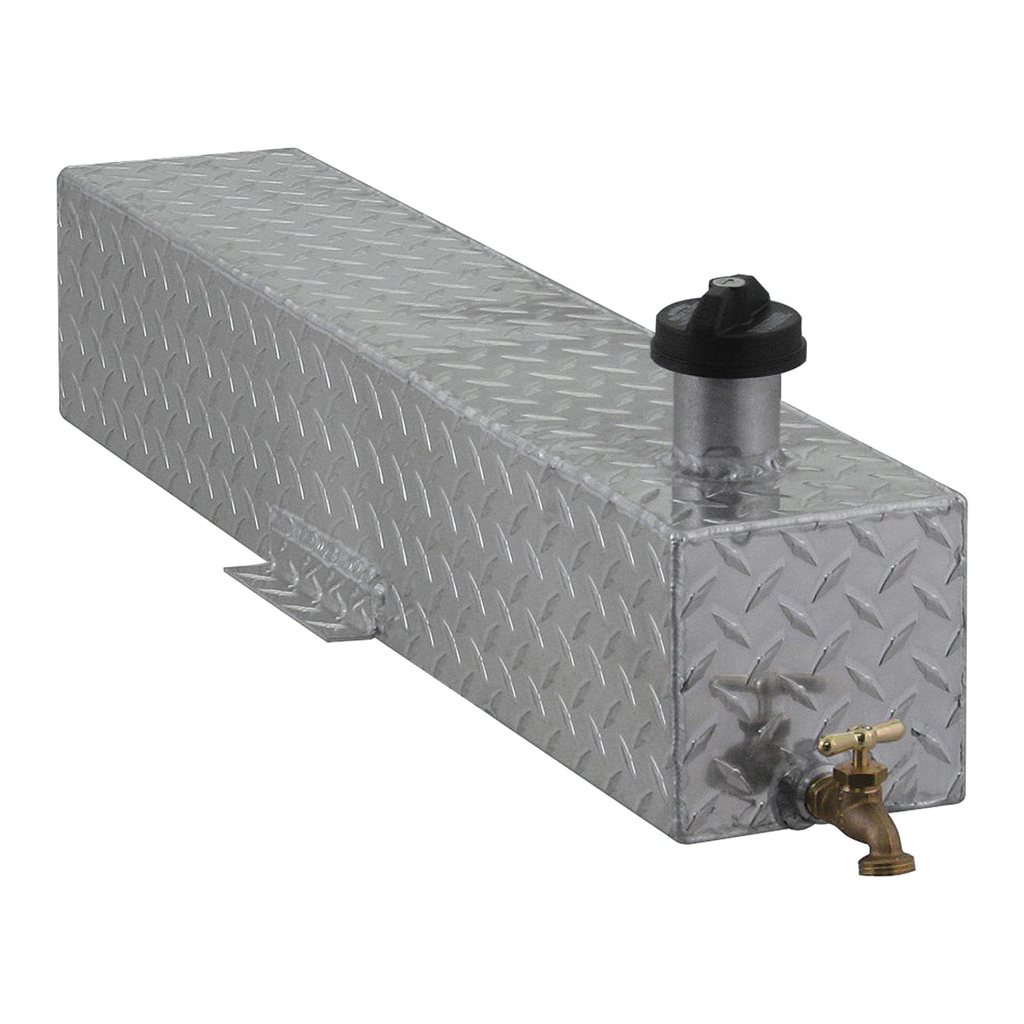 Diamond Plated 5-Gallon Aluminum Mounted Water Storage Tank