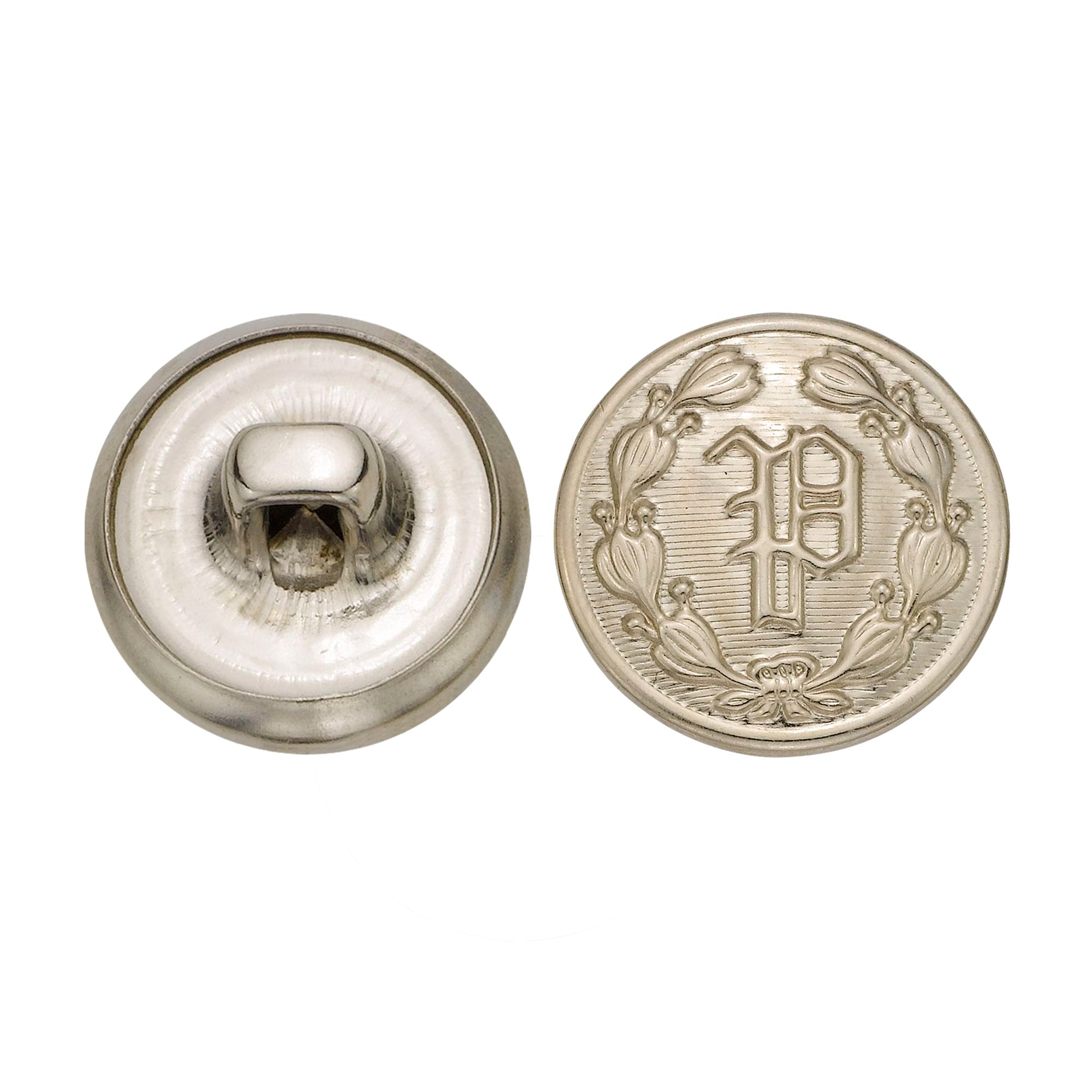 C&C Metal Products 5202 Police P Metal Button, Size 24 Ligne, Nickel, 72-Pack