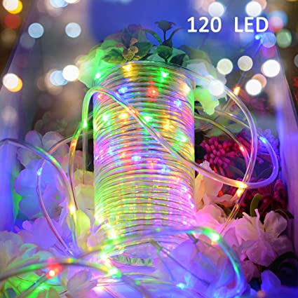 vmanoo rope lights 120 led battery operated string fairy christmas lighting decor timer for outdoor