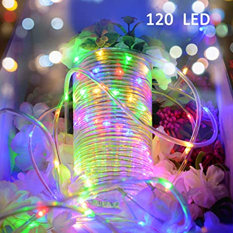 Amazon vmanoo rope lights 120 led battery operated string vmanoo rope lights 120 led battery operated string fairy christmas lighting decor timer for outdoor aloadofball Gallery