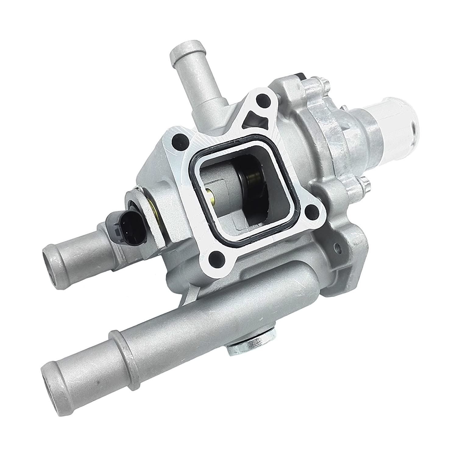 OKAY MOTOR Metal Coolant Thermostat Housing Assembly for 11-18 Chevrolet Cruze Sonic Trax 1.6L 1.8L 25192228