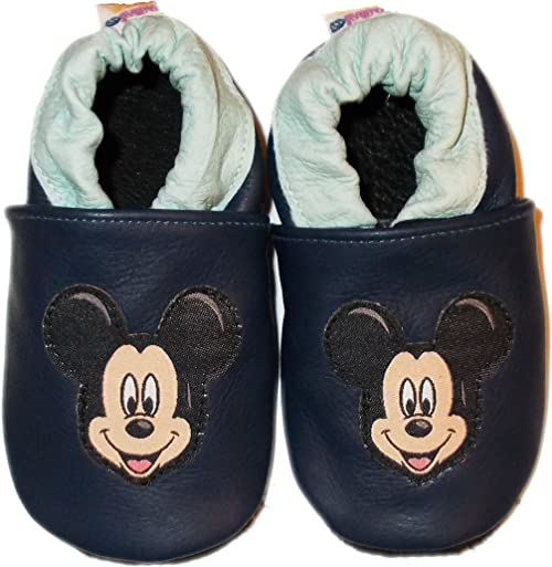 Disney Store Mickey Mouse Plush Soft Baby Slipper Shoes Size 0 6 12 18 24 Months