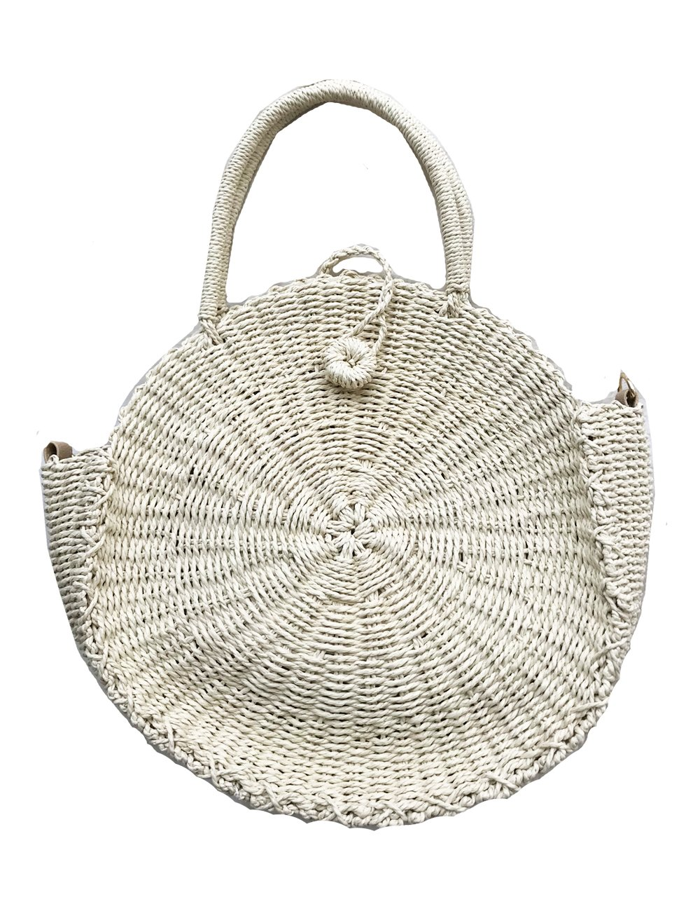 Straw Round Woven Tote Beach Bag