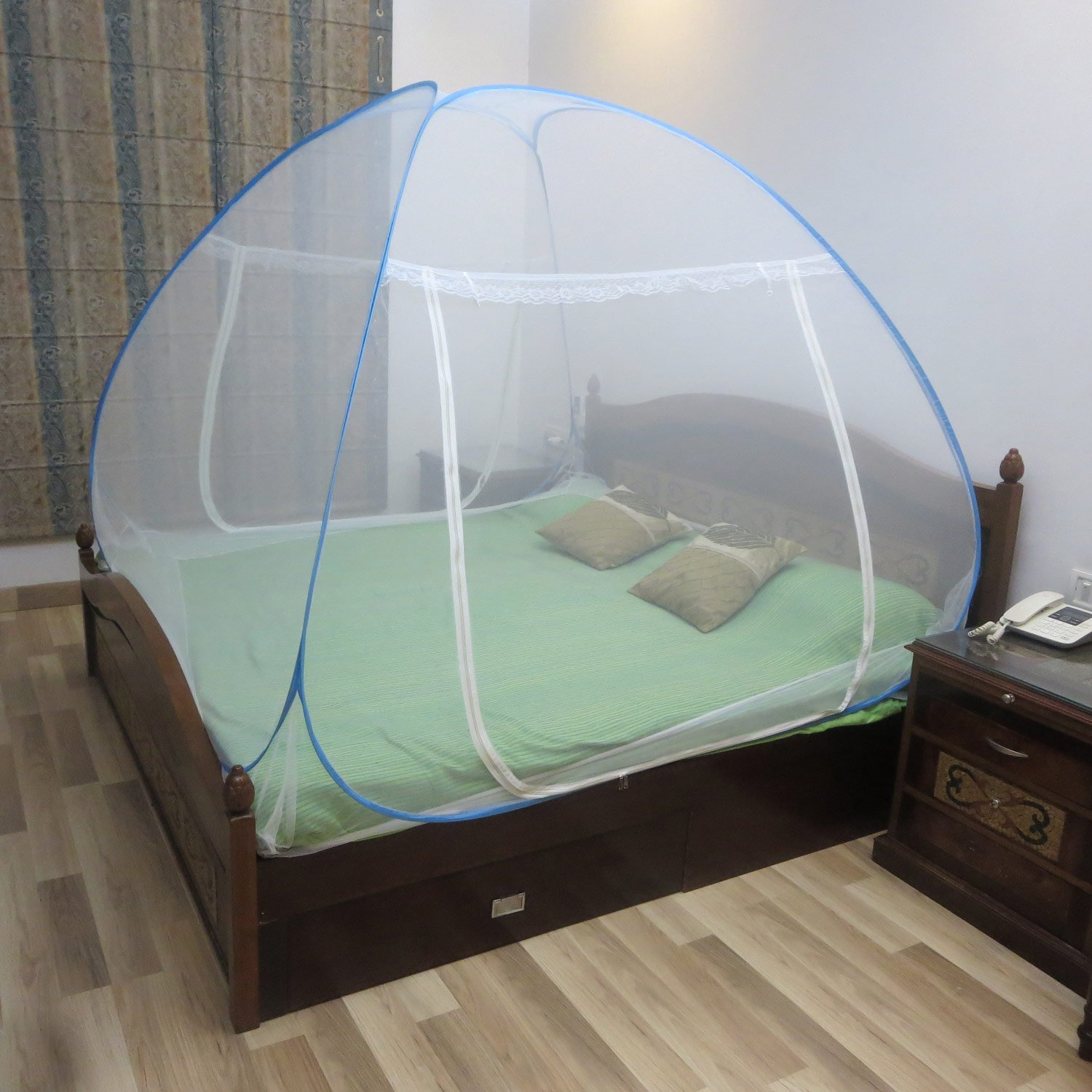 Healthgenie Premium Mosquito Net Foldable King Size (Double Bed)- Blue product image