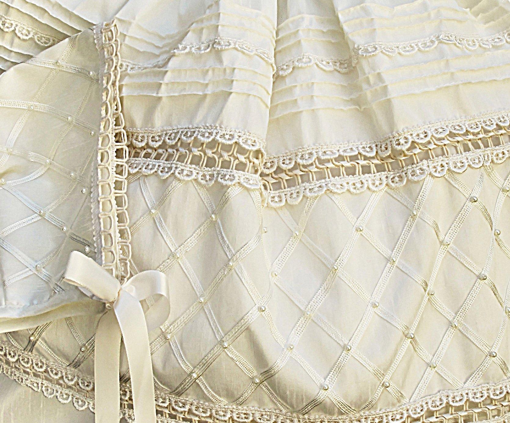 Baby-girls Heirloom Christening Baptism Gown Dress (Burbvus Ropones) Handmade - Silk by Burbvus (Image #1)