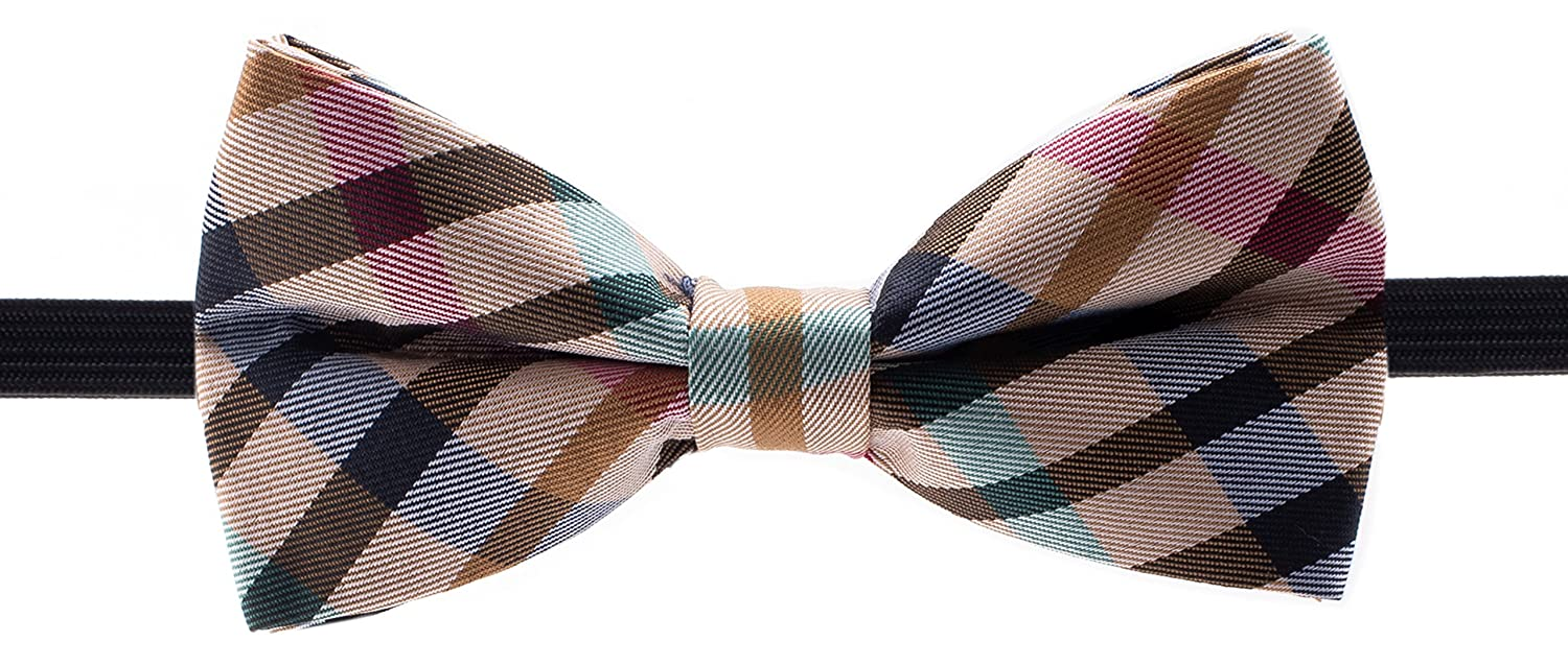 Bowtie /& Suspender Set Man of Men Checkered Bow Ties and Solid Color Suspenders