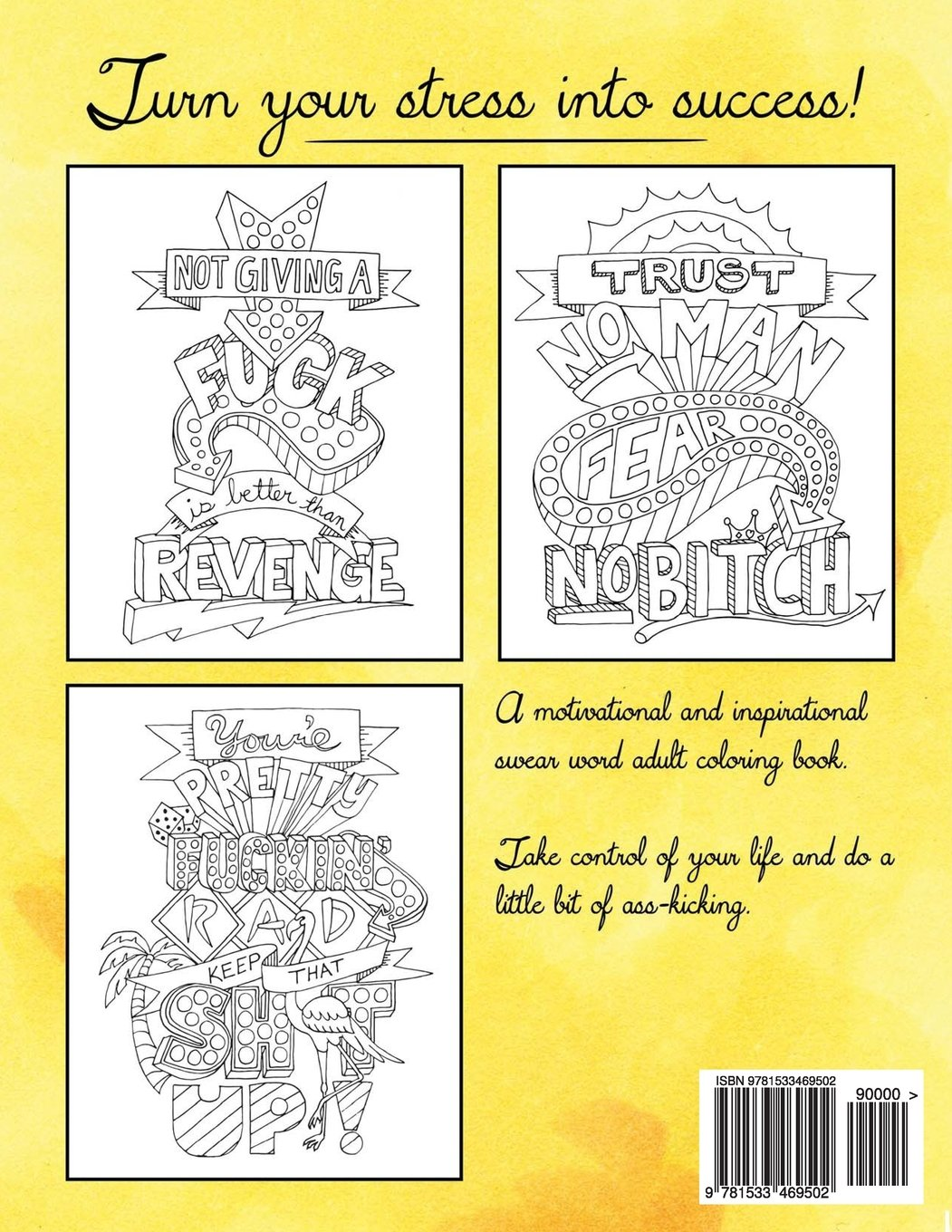 Coloring book inspirational - Amazon Com Make Life Your Bitch A Motivational Inspirational Adult Coloring Book Turn Your Stress Into Success And Color Fun Typography