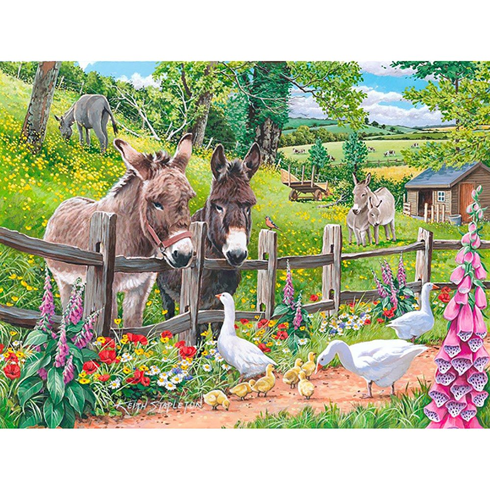 DIY round drill full diamond painting embroidery kits for adults farm animals home decoration 30x40CM