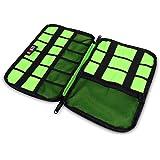 BUBM Accesorios Electrónica bolso de mano / organizador del cable / USB unidad de traslado / Disco Duro Case- (Negro)