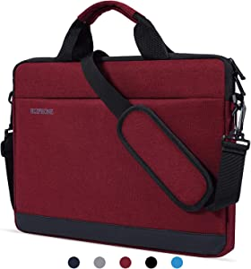 "13 Inch Laptop Shoulder Bag Waterproof Laptop Sleeve Case Compatible Acer Chromebook R 13,HP Spectre x360 13.3"",Google Pixelbook,Lenovo Yoga 720 13.3"",ASUS ZenBook and Most 13-13.3"" Notebook, Red Wine"