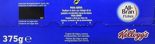 All-Bran - Flakes - 375 g - [Pack de 5]: Amazon.es: Alimentación y bebidas