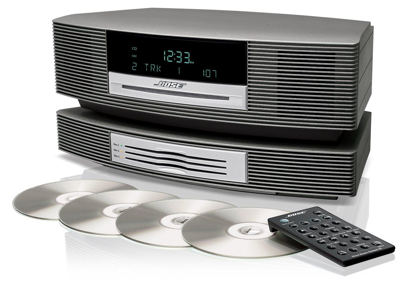 amazon com wave music system iii with multi cd changer titanium rh amazon com Bose Wave CD Changer Bose 3 CD Changer Repair