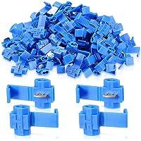 Ba30DEllylelly 200 Piezas 50 Pares 6,3mm Surtido Hembra Macho terminales de crimpado de Pala Funda Aislante Kit de Conector de Envoltura de Alambre Conjunto de Plata