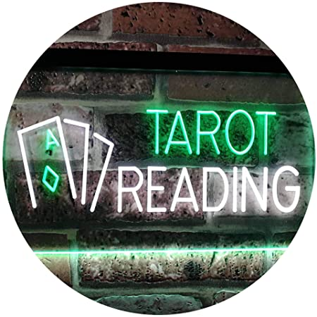 AdvpPro 2C Tarot Reading Dual Color LED Neon Sign White & Green 300mm x 210mm st6s32-i0446-wg