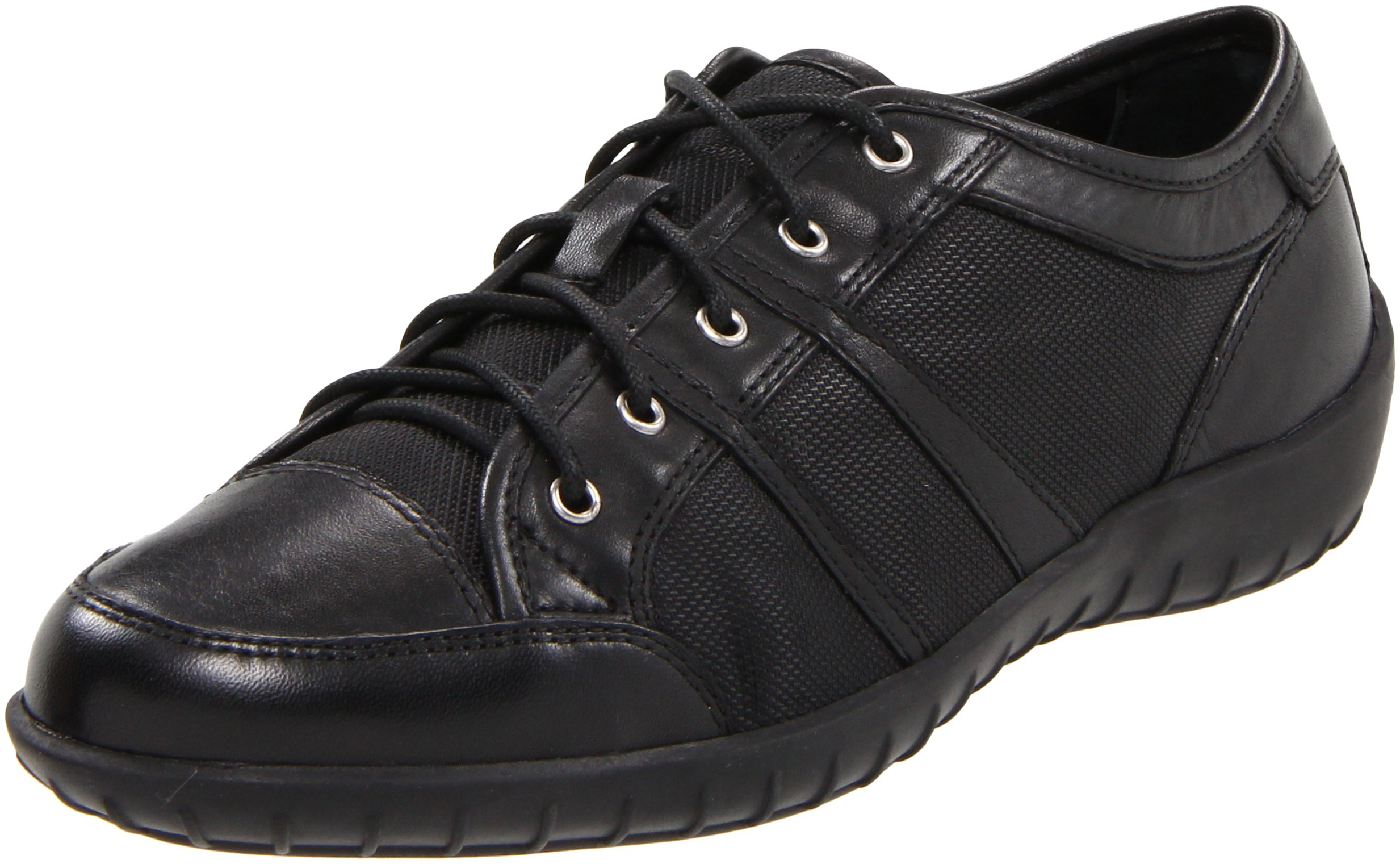 Walking Cradles Women's Corey Walking Shoes,Black Leather/Mesh,6 M US by Walking Cradles