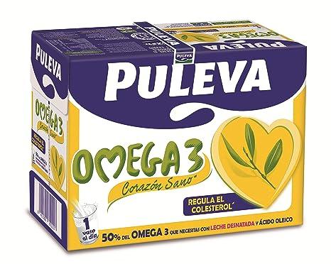 Puleva Leche con Omega 3 - 6 x 1 L: Amazon.es: Amazon Pantry