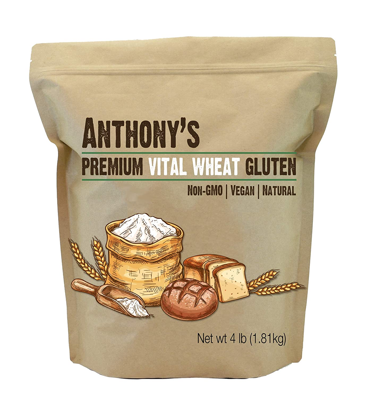 Anthony's Vital Wheat Gluten, 4 lb, hoch in Protein, Vegan, Non GMO, Keto Friendly, niedrig Carb