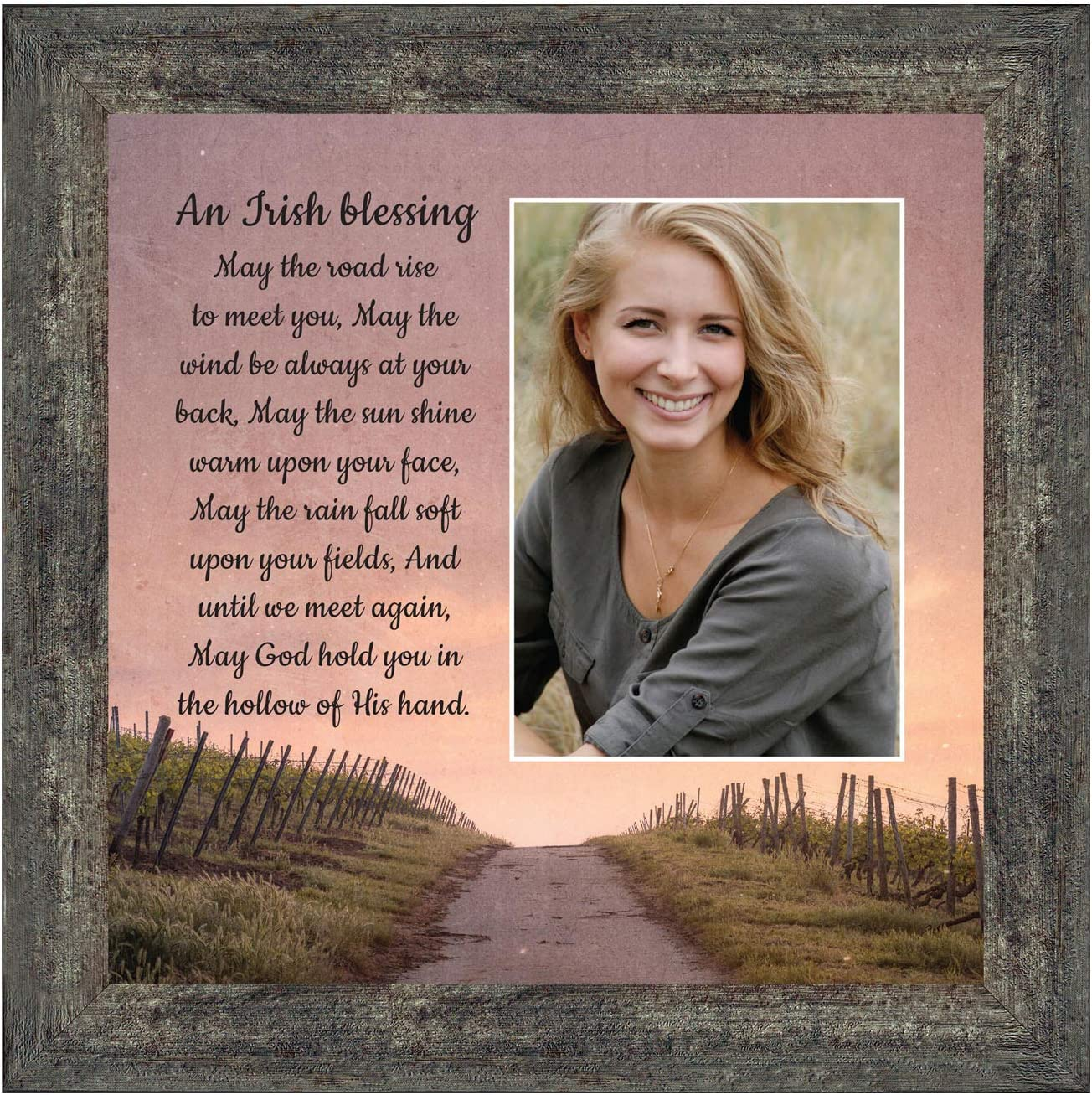 Irish Blessing Wall Decor, May The Road Rise Up to Meet You, Celtic Decor Home Blessing Sign, Irish Gifts for Women. Irish Wall Decor, House Warming Presents for New Home 6333BW