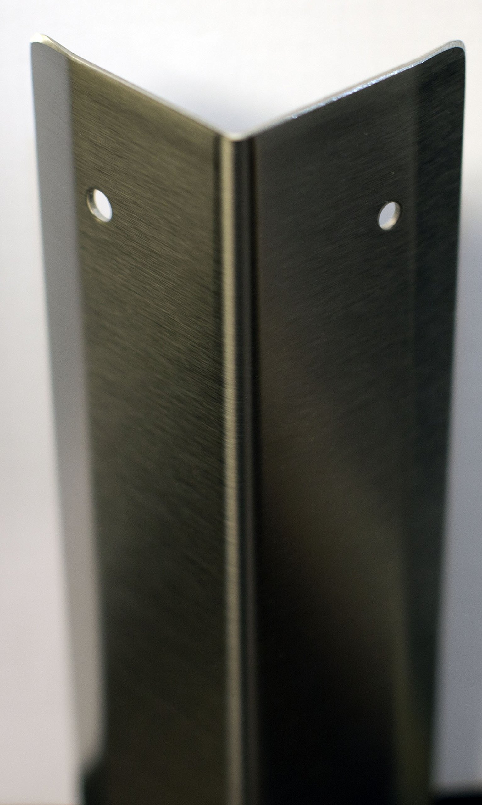 Stainless Corner Guard, 1.5'' X 1.5'' X 48'' (Breaks with holes)