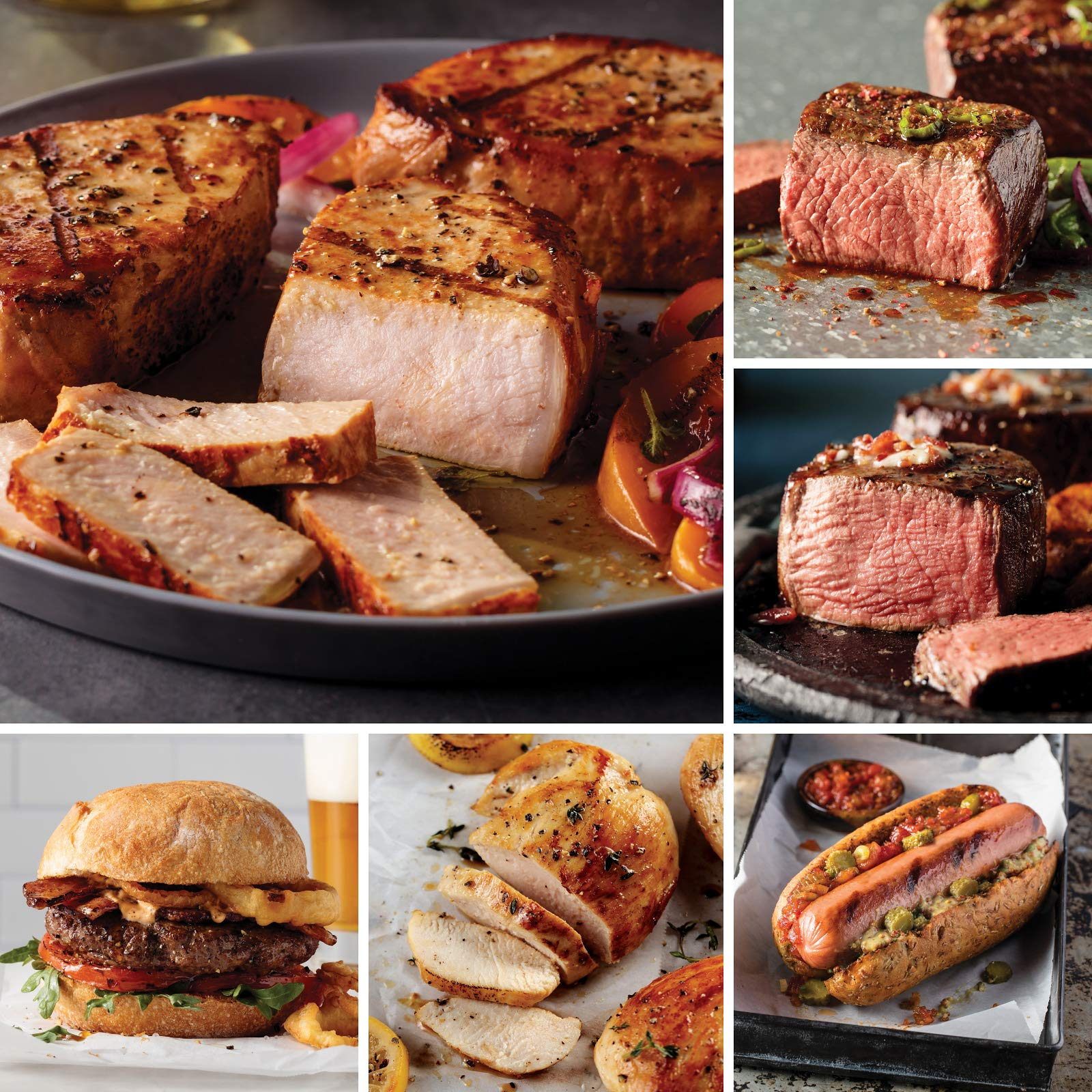 Omaha Steaks Yuletide Traditions Collection (26-Piece with Top Sirloins, Filet Mignons, Boneless Chicken Breasts, Steak Burgers, Boneless Pork Chops, Jumbo Franks, and Caramel Apple Tartlets) by Omaha Steaks (Image #1)