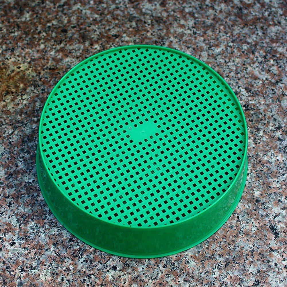 ZSLGOGO Tamis de Jardinage en Plastique Vert Tamis de Jardin /à Maille en Plastique Outils de Jardin pour Le filtrage du terreau Lors de l/'empotage Diam/ètre 20 cm