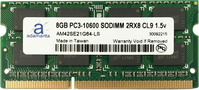 Adamanta 8GB (1x8GB) Laptop Memory Upgrade for Dell Precision M4600 DDR3 1333Mhz PC3-10600 SODIMM 2Rx8 CL9 1.5v Notebook DRAM