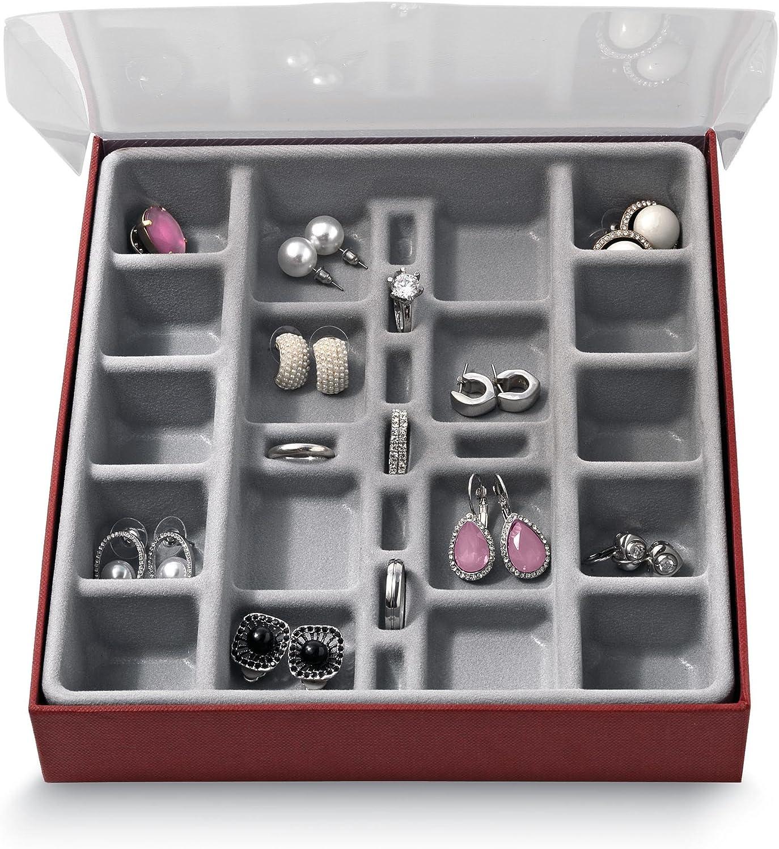 gemelos /& Muchos m/ás peque/ños accesorios Domopak/® peque/ño compartimento organizador de almacenamiento de joyas vitrina caja/?/perfecto para guardar pendientes anillos