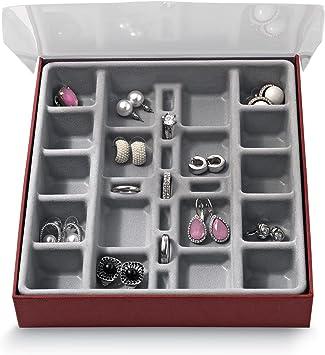 Domopak® pequeño compartimento organizador de almacenamiento de joyas vitrina caja ? perfecto para guardar pendientes, anillos, gemelos & Muchos más pequeños accesorios: Amazon.es: Bricolaje y herramientas