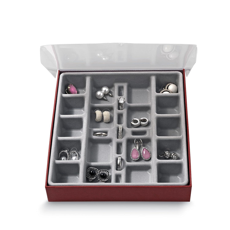 Domopak/® peque/ño compartimento organizador de almacenamiento de joyas vitrina caja/?/perfecto para guardar pendientes anillos gemelos /& Muchos m/ás peque/ños accesorios